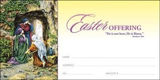 """He is not here, He is risen  Standard Offering Envelopes (3 1/8"""" x 6 1/4""""). Price per 100"""