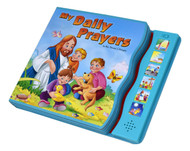 With this interactive book, children can read along as each of six different prayers is read to them with the touch of a button. Each prayer is wonderfully illustrated in brilliant full color and encourages children to appreciate God's gifts and be loving toward others. The text and illustrations are enhanced and complemented by turquoise EVA foam.