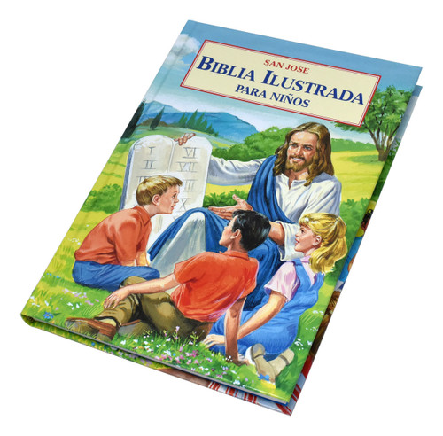 "Historias bíblicas para niños ilustradas a todo color. Una introducción ideal a las magníficas historias de la Biblia. Tipo grande 176 páginas. Tamaño 7-1 / 4 ""x 10-1 / 4"". De tapa dura. Bible stories for children illustrated in full color. An ideal introduction to the magnificent stories of the Bible. Large type. 176 pages. Size 7-1/4"" x 10-1/4"". Hardcover."