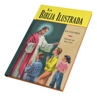 La Biblia Ilustrada presenta más de 100 historias de la Biblia católica para niños y niñas en español, escritas en un lenguaje sencillo y claro que es fácil de entender. La primera parte trata el Antiguo Testamento de Adán a Cristo y narra los eventos más significativos en los tratos de Dios con la humanidad durante ese tiempo. La segunda parte contiene sesenta historias hermosas del Nuevo Testamento sobre la vida y las enseñanzas de Jesús. También incluye una línea de tiempo histórica de eventos durante la era del Antiguo Testamento. Coloridamente ilustrados y durablemente unidos en tela para un uso prolongado por parte de los jóvenes y sus familias  La Biblia Ilustrada presents more than 100 Catholic Bible stories for boys and girls in Spanish, written in simple and clear language that is easy to understand. The first part treats the Old Testament from Adam to Christ and narrates the most significant events in God's dealings with humanity during that time. The second part contains sixty beautiful New Testament stories about the life and teachings of Jesus. Also includes a historical timeline of events during the Old Testament era. Colorfully illustrated and durably bound in cloth for long-lasting use by young people and their families