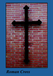 Outdoor Wall Mounting Roman Cross