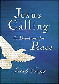 "Features 50 readings from Jesus Calling with relevant Scripture verses on the topics of comfort, peace, and encouragement. Life can be noisy. Pressures, tasks, and anxieties never cease, and sometimes the peace Jesus promises can seem unreachable. But it's closer than you think. Jesus Calling 50 Devotions for Peace is written as if Jesus Himself is speaking directly to your heart, saying, ""Peace. Be still."""