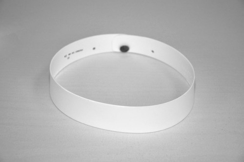 """White Plastic Comfort Collar.  Designed to be worn with R. J. Toomey™ cassock, shirt fronts and collarettes. Collar Height: #2 (1-1/4"""" H) or #3 (1-1/2"""" H).  Sizes: 14-19 including 1/2"""" sizes and 20, 21 & 22. Order size 1/2"""" larger than shirt collar size"""