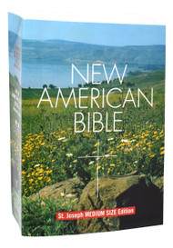 """The Medium-Size Student Edition of the St. Joseph New American (Catholic) Bible is the most popular medium-size student paperback edition available. Includes the complete Old and New Testaments in a large, easy-to-read 9-pt. type. Contains many helpful aids for easy Bible reading, including a valuable Bible Dictionary, self-explanatory maps, and complete footnotes and cross-references. The user- fridendy (5 1/2"""" X 8"""") size, flexible, durable paper cover, and handy edge-marking index make the St. Joseph New American Bible Medium-Size Student Edition ideal for schools, CCD, and study groups."""