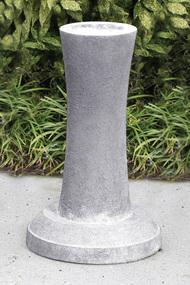 """Cast Stone Contemporary Pedestal . Measurements: Height:26"""" Top Diameter :9"""" Base Diameter:16"""". Weight: 102 lbs. Made to order.... Allow 3-4 weeks for delivery. Made in the USA! Pedestal shown in Old Stone"""