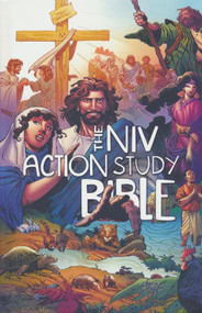 The Action Bible has introduced millions of kids to the stories in the Bible with its dramatic comic-book-style illustrations. Now they can go deeper with The NIV Action Study Bible. This Bible is designed to encourage a stronger connection with God. This essential study Bible includes the complete NIV translation and brings preteens into the action with these features:   What About This? Insights to tough questions about faith Unlock It! Who did what, when, where and why it matters Guess It! Person, place, or thing? Guessing fun with five clues Find It! A distinct icon that appears whenever a story is included in the The Action Bible Activate Reflection on Bible themes and how they apply to life today Ancient Archives Cultural history of ancient times---what were clothes, houses, weapons, food, celebrations, and traditions like? Experience the Drama Comic book artist Sergio Cariello's dramatic illustrations capture the imagination and transport readers to another time. Forty full-color illustrated pages throughout the Bible and over two hundred in-text black and white illustrations. Plus book introductions, maps, a dictionary, concordance, and more.