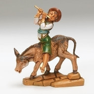 "Fontanini 5"" Scale Dominic Boy with Donkey. A wonderful addition to your Fontanini Nativity Collection! Made of polymer."