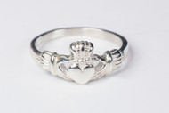 Women's Sterling Silver Claddagh Ring. Sizes 4-9.  Hand Made in the USA. Lifetime Guarantee against tarnishing and defects.