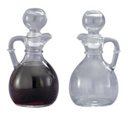 "CB1 Glass Cruets - 6 ounce capacity, Height 6""."