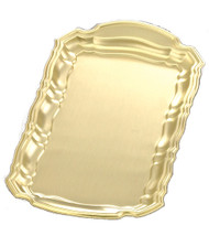 "Tray- 505B ~ Lacquered Brass Tray. Measures  - 10 1/2"" x 5 1/2"""