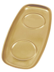 "Brass/Lacquer Tray 504/B - 9 1/4"" x 4 1/4"""