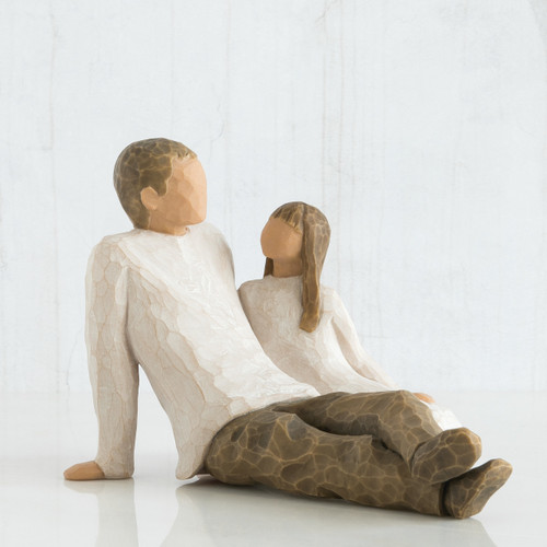 """Celebrating the bond of love between fathers and daughters. A gift to celebrate the loving relationships that develop between parent and child.  5""""h hand-painted resin figure.  Packaging box includes enclosure card for gift-giving  Dust with soft cloth or soft brush. Avoid water or cleaning solvents"""
