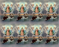 "Caridad del Cobre Prayer Cards from the Bonella Line. Bonella artwork is known throughout the world for its beautiful renditions of the Christ, Blessed Mother and the Saints. 8 1/2"" x 11"" sheets with tab that separates into 8- 2 1/2"" x 4 1/4"" cards.  No charge for personalization.  Can be laminated at an additional cost.  ( Price per sheet of 8) Imported from Italy"