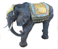 "This beautiful 53""H elephant complements the 39"" Heaven's Majesty Nativity Set. The elephant is made of fiberglass and resin. The elephant is suitable for indoor and outdoor use."