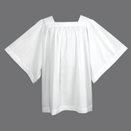 Surplice Square Yoke Style. 65% Polyester and 35% Cotton. See Options for Size Choices
