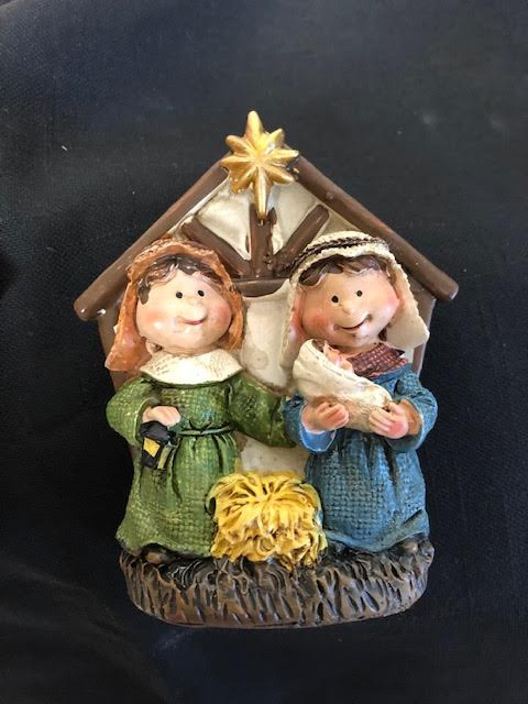 """8 Point Star ~ 4"""" Light up nativity is battery operated. Perfect for a small night light or a tiny corner that needs a little sparkle for the holidays. Two styles to choose from. Please make selection when checking out.  Battery included."""