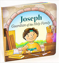 This beautiful board book Joseph: Guardian of the Holy Family provides a memorable way for toddlers to become familiar with Saint Joseph and his role in the earthly life of Jesus. Features & Benefits - ideal as a birth or baptismal gift - entertaining for children ages 1--5 - durable board book - perfect for reading aloud Illustrated by Mary Rojas Book Size: 7 x 7 inches. Pages: 14