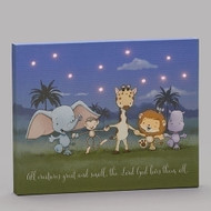 "8""H LED Plaque All Creatures Great and Small. -8""H medium density fiberboard decorative panel. Depicts different animals holding hands and the words ""All creatures great and small, th Lord God loves them all. Dimensions: 8""H X 9.85""W X 0.984D"