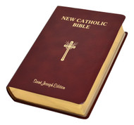 "This Giant Type Edition of the St. Joseph New Catholic Bible (NCB) is the first complete Bible in this fresh, faithful, and reader-friendly translation. With the needs of an aging population and those with limited vision in mind, the focus in this edition is placed on the text, which is arranged for easy reading. Rich explanatory notes are gathered at the end of each book to allow for full pages of the edition's highly readable 14 pt. type, the largest type of any Catholic Bible in a comparable size.  This edition, intended to be used by Catholics for daily prayer and meditation, as well as private devotion and group study, comes in a convenient 6-1/2"" x 9-1/4"" format, features gold page-edging, and is durably bound in burgundy bonded leather. Enhanced Features Decorative Presentation Page Beautifully Illustrated Family Record Section Old and New Testament Timelines Over 20 Full-Color Photographs 8 Full-Color Maps List of the Miracles and Parables of Jesus Lavish Panoramic Illustrations Key Ideas of the Bible Other Noteworthy Features Learning about Your Bible The Importance of the New Testament Books of the Bible by Religious Tradition Doctrinal Bible Index List of Popes"