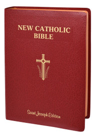"This Giant Type Edition of the St. Joseph New Catholic Bible (NCB) is the first complete Bible in this fresh, faithful, and reader-friendly translation. With the needs of an aging population and those with limited vision in mind, the focus in this edition is placed on the text, which is arranged for easy reading. Rich explanatory notes are gathered at the end of each book to allow for full pages of the edition's highly readable 14 pt. type, the largest type of any Catholic Bible in a comparable size.  This edition, intended to be used by Catholics for daily prayer and meditation, as well as private devotion and group study, comes in a convenient 6-1/2"" x 9-1/4"" format, has stained edges, and is durably bound in flexible red imitation leather. Enhanced Features Decorative Presentation Page Beautifully Illustrated Family Record Section Old and New Testament Timelines Over 20 Full-Color Photographs 8 Full-Color Maps List of the Miracles and Parables of Jesus Lavish Panoramic Illustrations Key Ideas of the Bible Other Noteworthy Features Learning about Your Bible The Importance of the New Testament Books of the Bible by Religious Tradition Doctrinal Bible Index List of Popes"