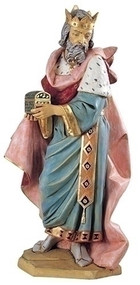 "Fontanini Nativity ~ 50"" Height Standing King Melchior. Marble Based Resin"