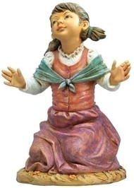 "Fontanini Nativity ~ Beth, Kneeling Girl. Marble Based Resin. 50"" Height"