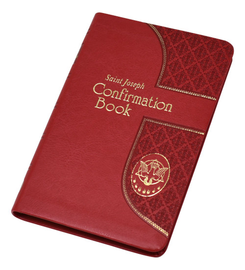 """The Saint Joseph Confirmation Book is an ideal companion for Confirmation candidates, providing the Confirmation rite, prayers, instructions, and inspiring readings from the Gospels. This edition is in accord with both the Roman Missal, which became available in 2011, and the updated Order of Confirmation, which was approved by the Holy See in 2015. A perfect resource and gift for those preparing for the Sacrament of Confirmation, this comprehensive book has a rich red, elegantly gold-stamped Dura-Lux binding. Measures 4.5"""" x 6.5"""". 288 pages"""