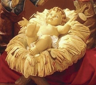 Sold Separately or together as a set-Manger and Infant Jesus Figure 50 Inch Scale Nativity Set