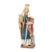 "Saint Barbara Cold Cast Resin 4"" Hand Painted Statue Boxed"