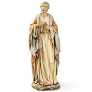 "10.5""H resin/stone mix figure of St Peter holding the Keys to the Kingdom. Statues measurements are: 10.5""H x 3.75""W x 3.25""D"