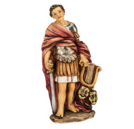 """4"""" Hand Painted Solid Resin Patron Saint Statue with Gold-leaf Trim Accents and Italian Gold-stamped Prayer Card. All Statues are Packaged in Deluxe Window Box."""