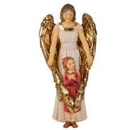 "4"" Hand Painted Solid Resin Patron Saint Statue with Gold-leaf Trim Accents and Italian Gold-stamped Prayer Card. All Statues are Packaged in Deluxe Window Box."