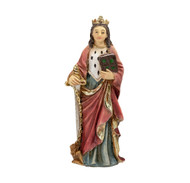 "Saint Dymphna Cold Cast Resin 4"" Hand Painted Statue Boxed"