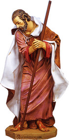 "Joseph, 50"" Nativity Figure. Marble Based Resin"
