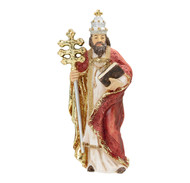"Saint Gregory Cold Cast Resin 4"" Hand Painted Statue Boxed"