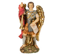 "Saint Gabriel Cold Cast Resin 4"" Hand Painted Statue Boxed"