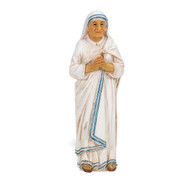 "Saint Teresa Of Calcutta Cold Cast Resin 4"" Hand Painted Statue Box"