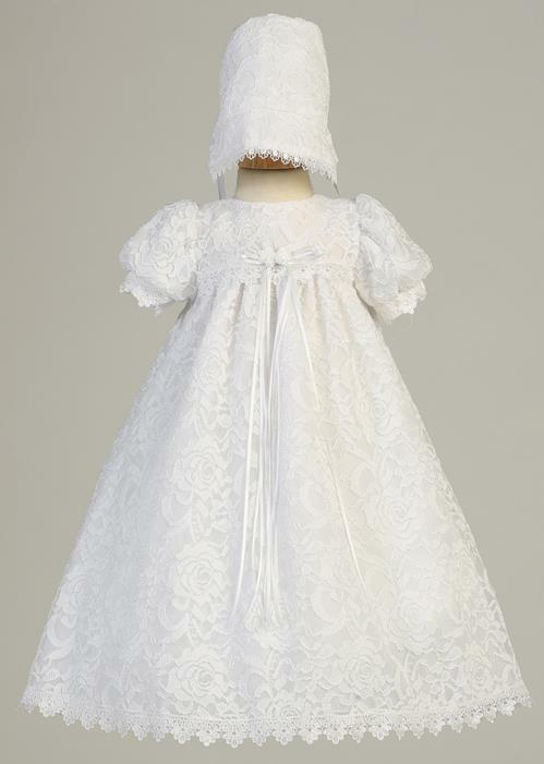 Victoria, Lace Yoke Comminion Dress. Made In USA