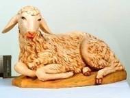 "Fontanini 50"" Seated Sheep Nativity figure. Marble Based Resin"