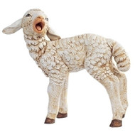 """Sheep with Head Turned. Marble Based Resin. 50"""" Scale"""