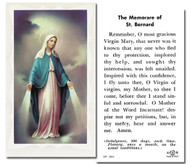 "2""x4"" Paper Holy Card with gold edges. OL of Grace Memorare of St. Bernard Holy Card on the back of card"