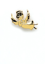 Angel on my shoulder lapel pin