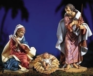 "Fontanini Nativity 27"" Scale, 3 Piece Set Holy Family. PVC/Marble Based Resin"