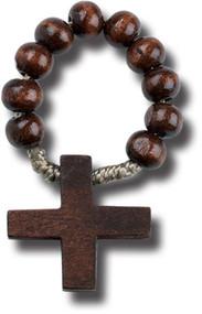 Brown Wood Rosary Ring, 983
