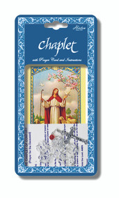 Comfort for the Deceased Deluxe Chaplet with Crystal Beads. Packaged with a Laminated Holy Card & Instruction Pamphlet