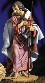 "Fontanini Nativity Joseph 25.5"" Figure. Marble Based Resin. Measurements: 25.5""H, 14""W, 12""D / 27""Scale"