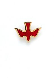 Red Enameled Holy Spirit Dove Lapel Pin