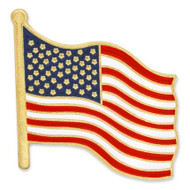 "Show your American pride and patriotism with our most popular patriotic lapel pin. Actual size - Approximately 3/4"" x 3/4""."