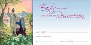 "Standard Offering Envelopes for Easter Offering (3 1/8"" x 6 1/4""). Price per 100"