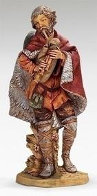 "Fontanini Nativity, Josiah the Bagpiper. Marble Based Resin. 27""H/27""Scale"